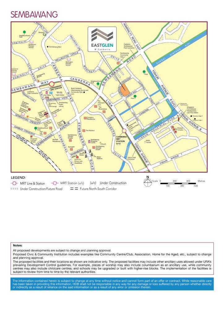 EastGlen @ Canberra Location Map