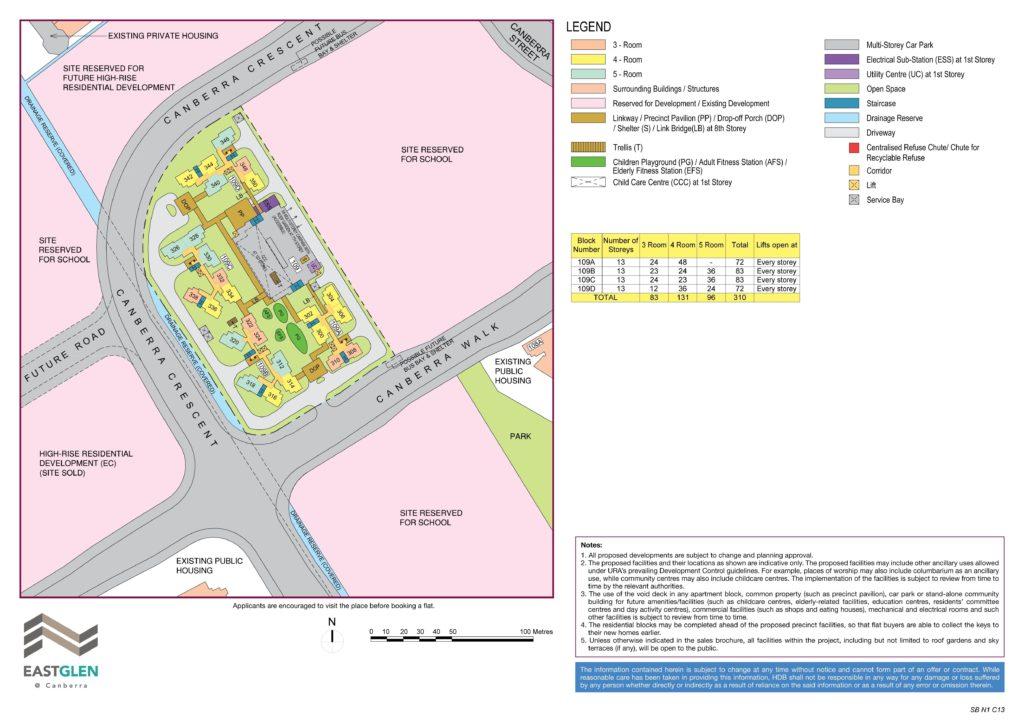EastGlen @ Canberra Site Map