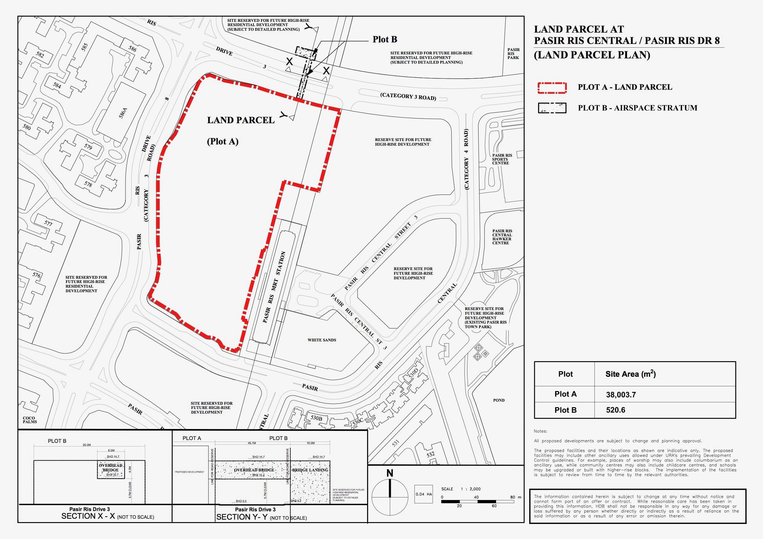 Pasir Ris Central Land Parcel Plan