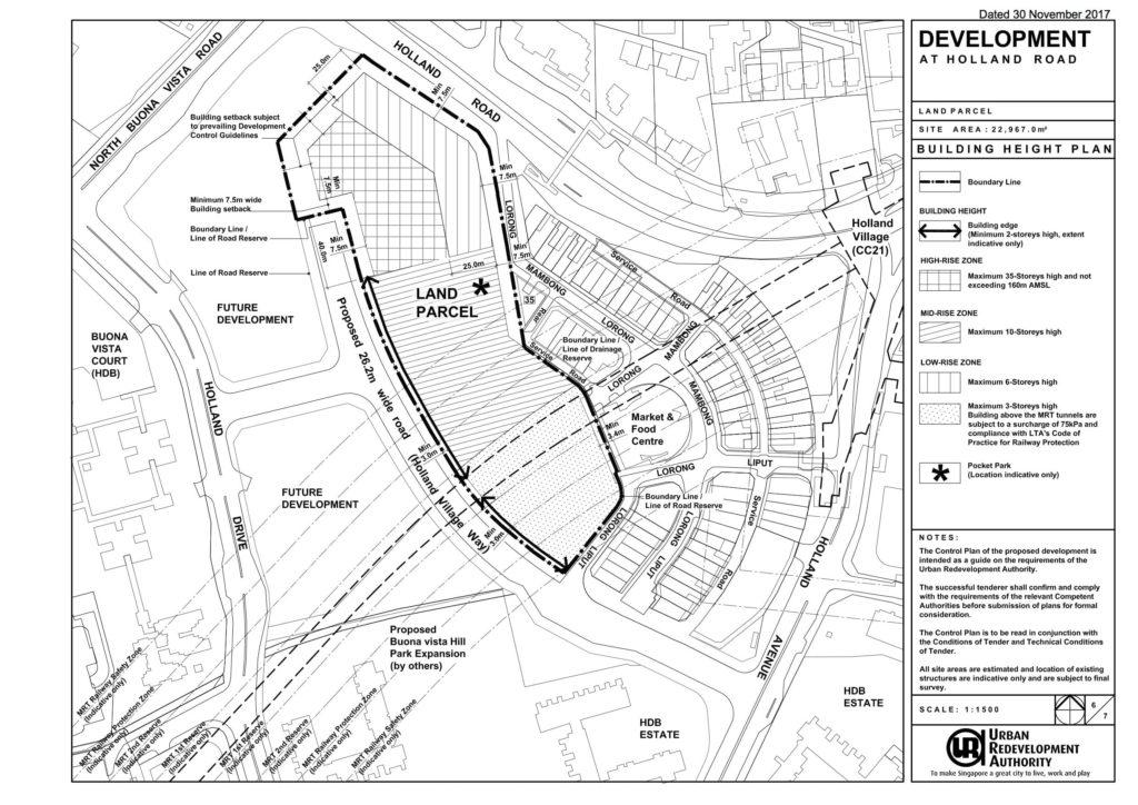 URA GLS Holland Road Building Height Plan