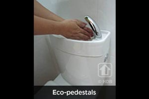 Hand washing with Eco-pedestals
