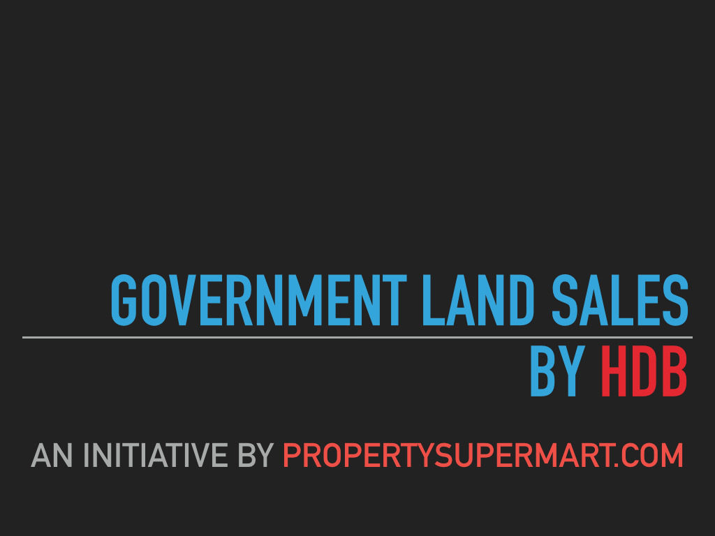 Text only image for Government Land Sales by HDB
