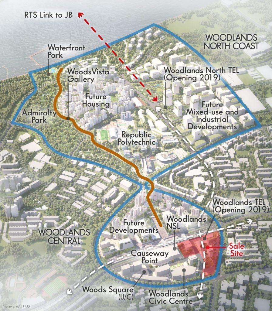 Woodlands Site Map
