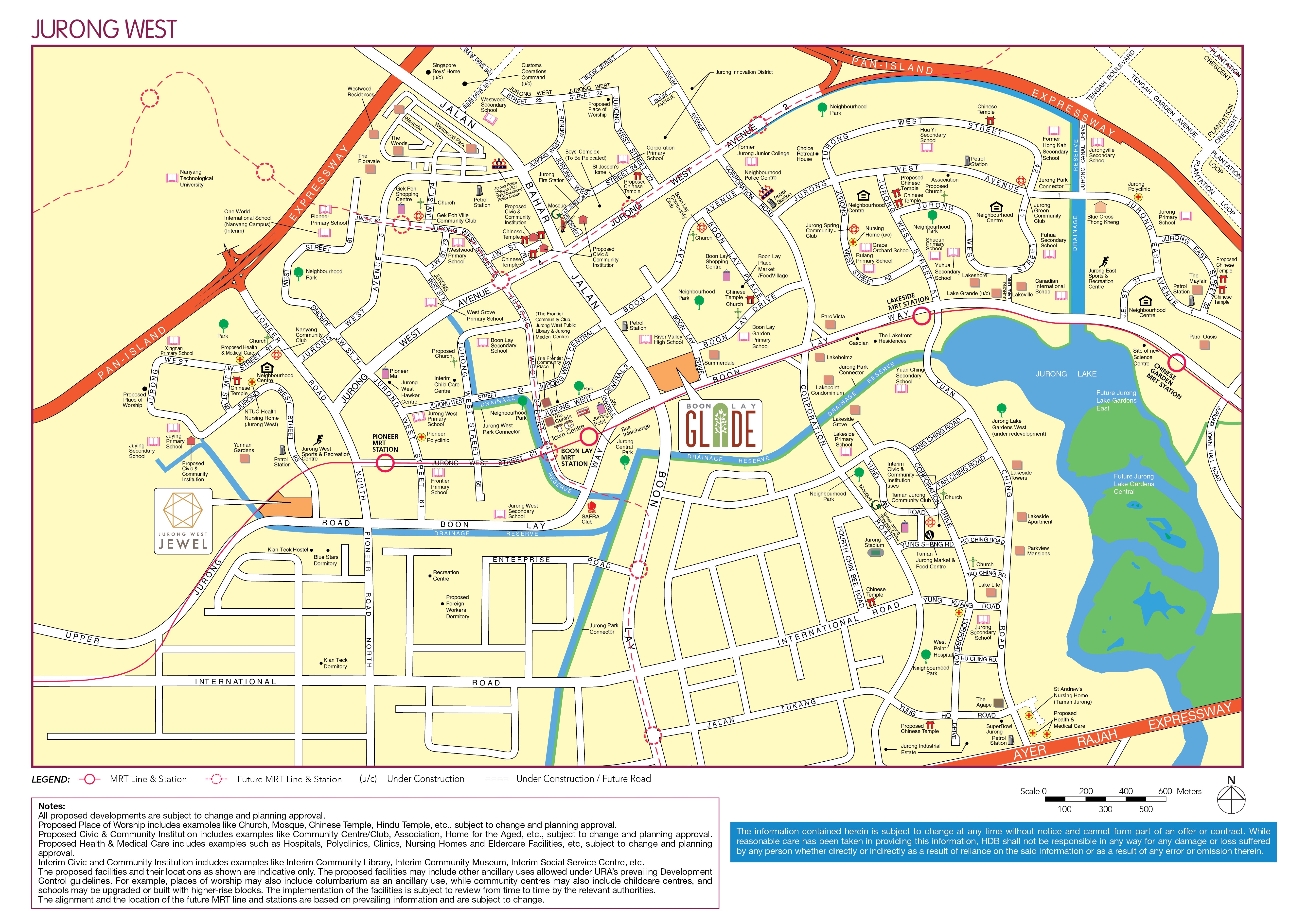 Boon Lay Glade Location Map