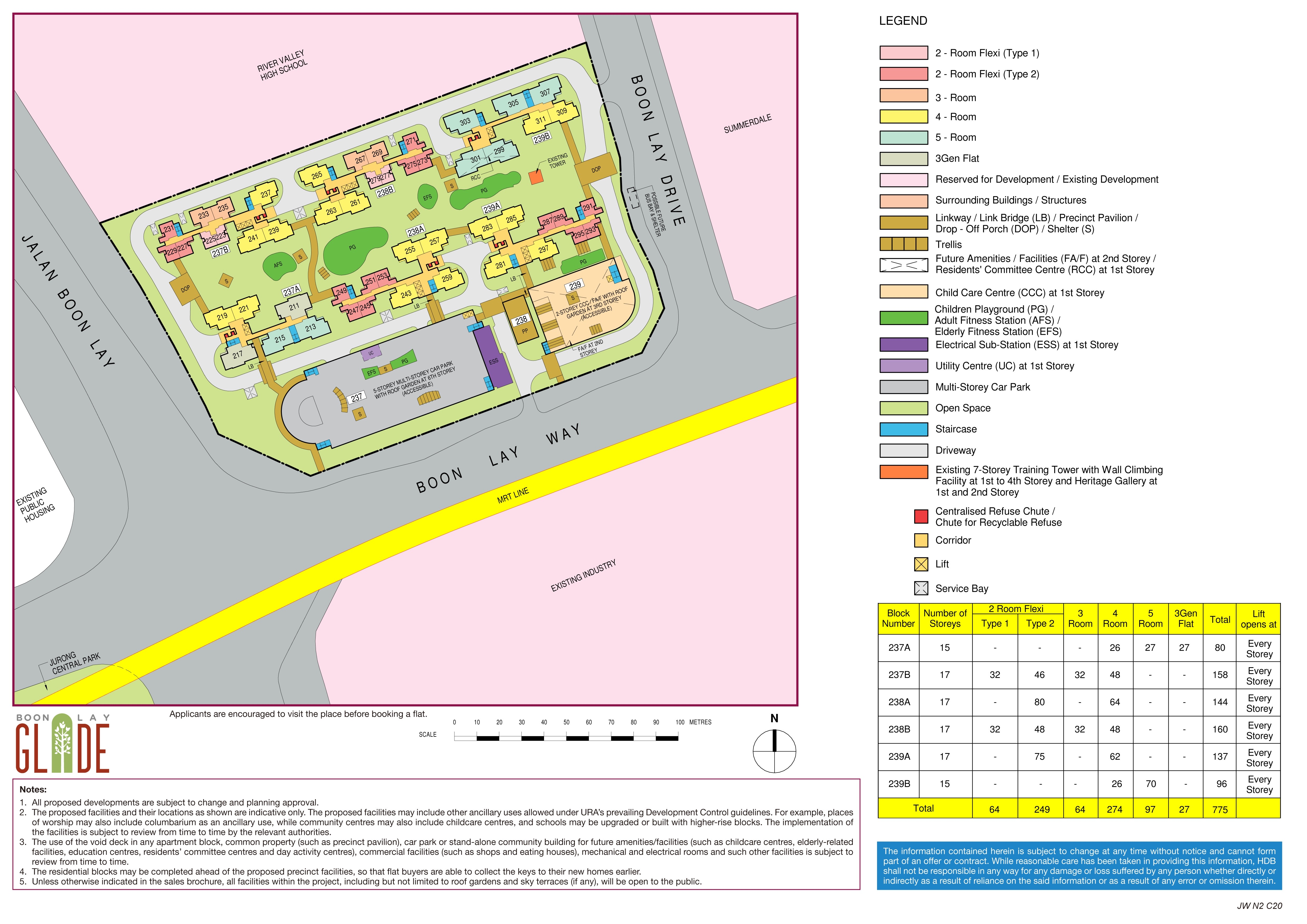 Boon Lay Glade Site Plan