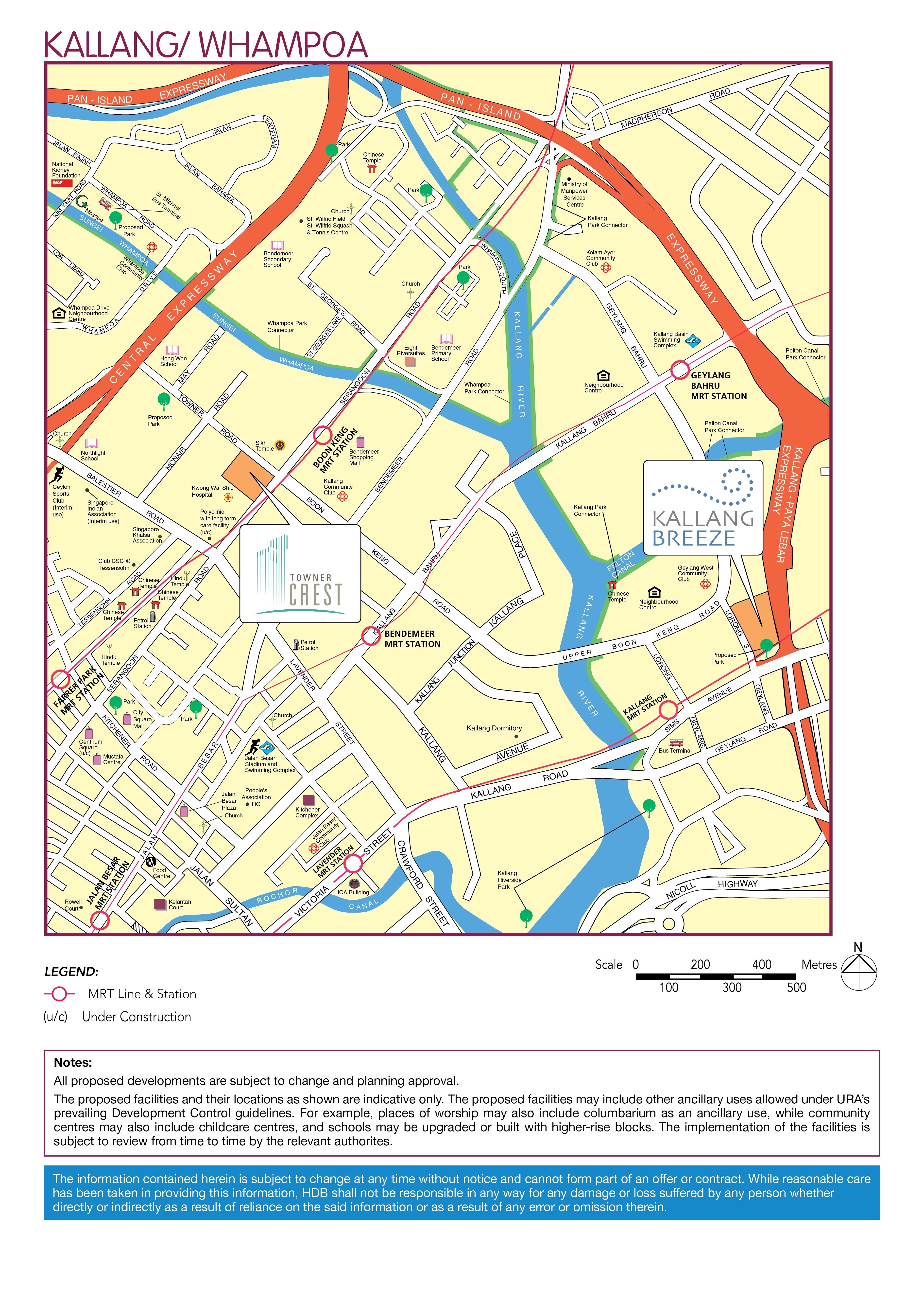 Kallang BTO Location Map