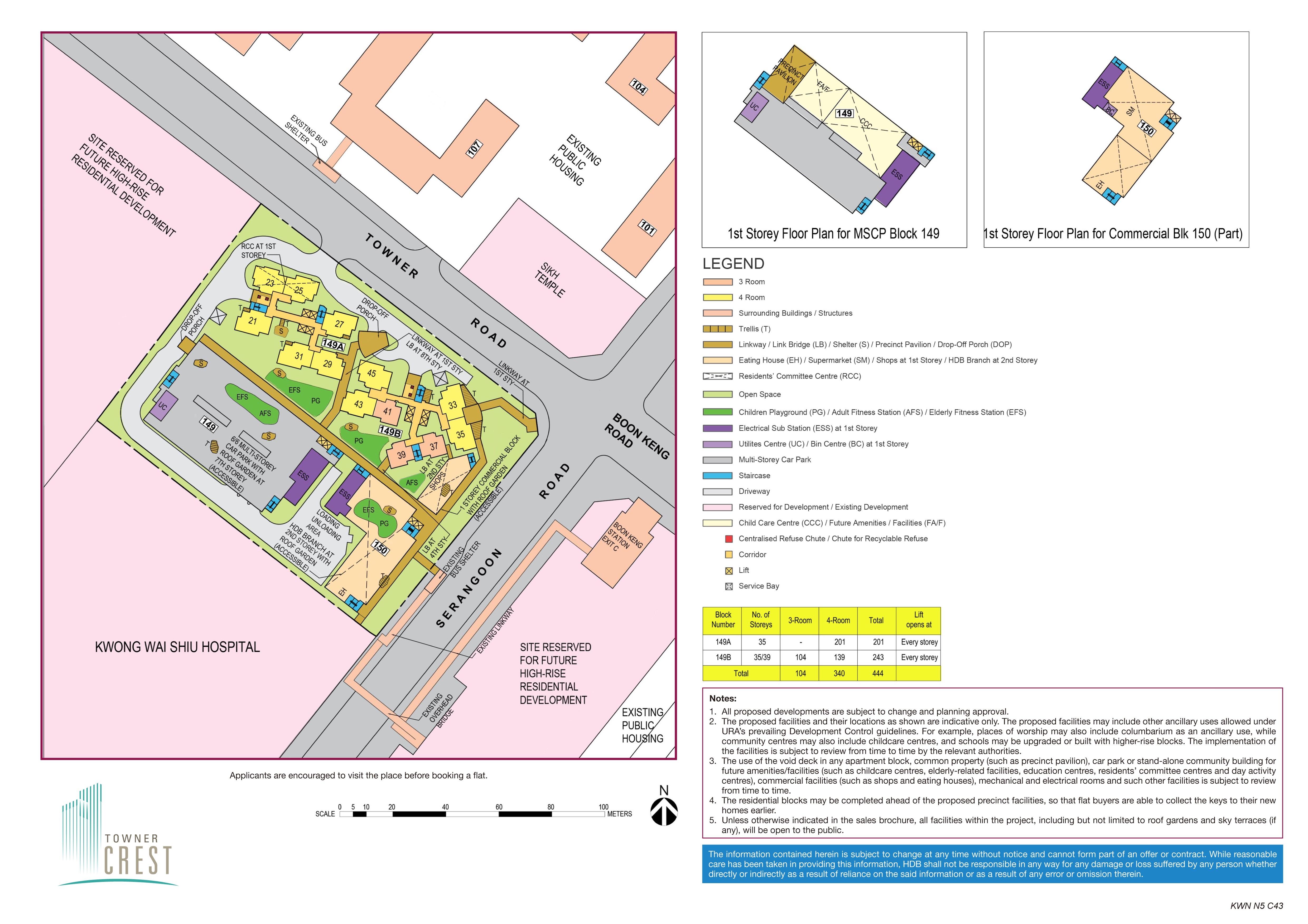 Towner Crest Site Plan