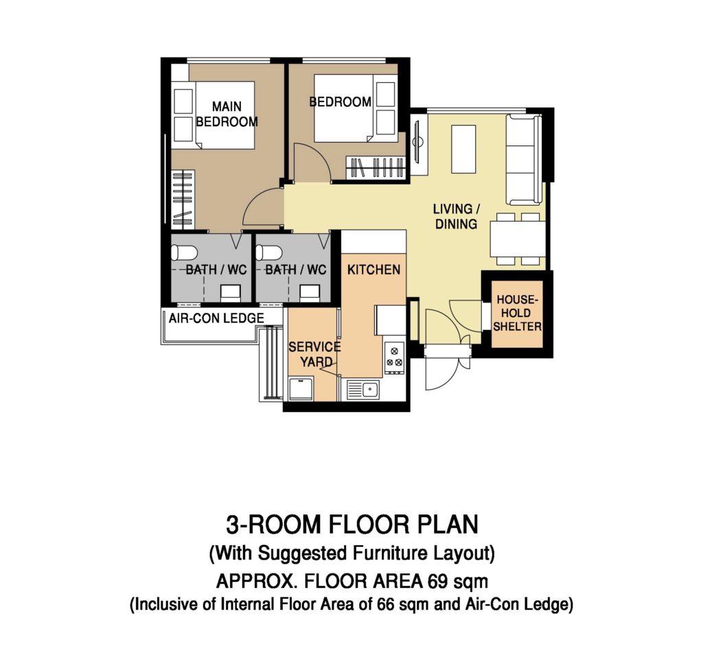 Floor Plan 3-Room