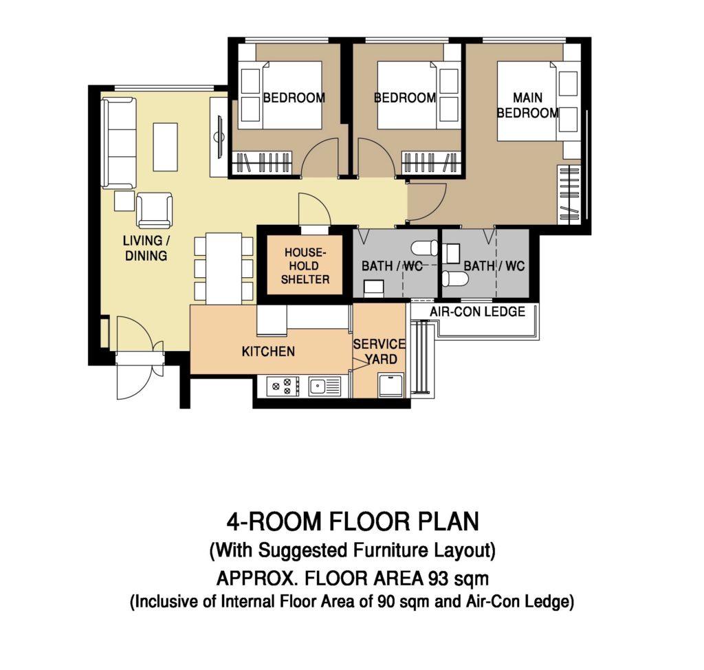 Floor Plan 4-Room 02