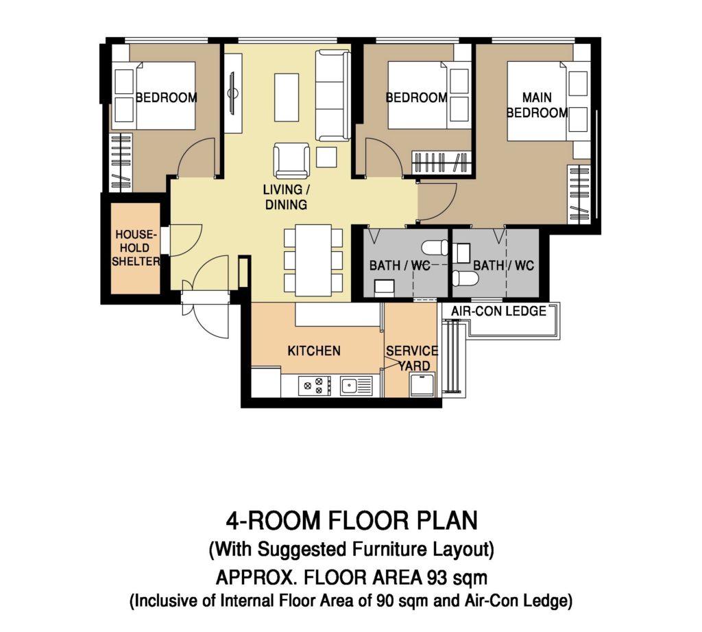 Floor Plan 4-Room