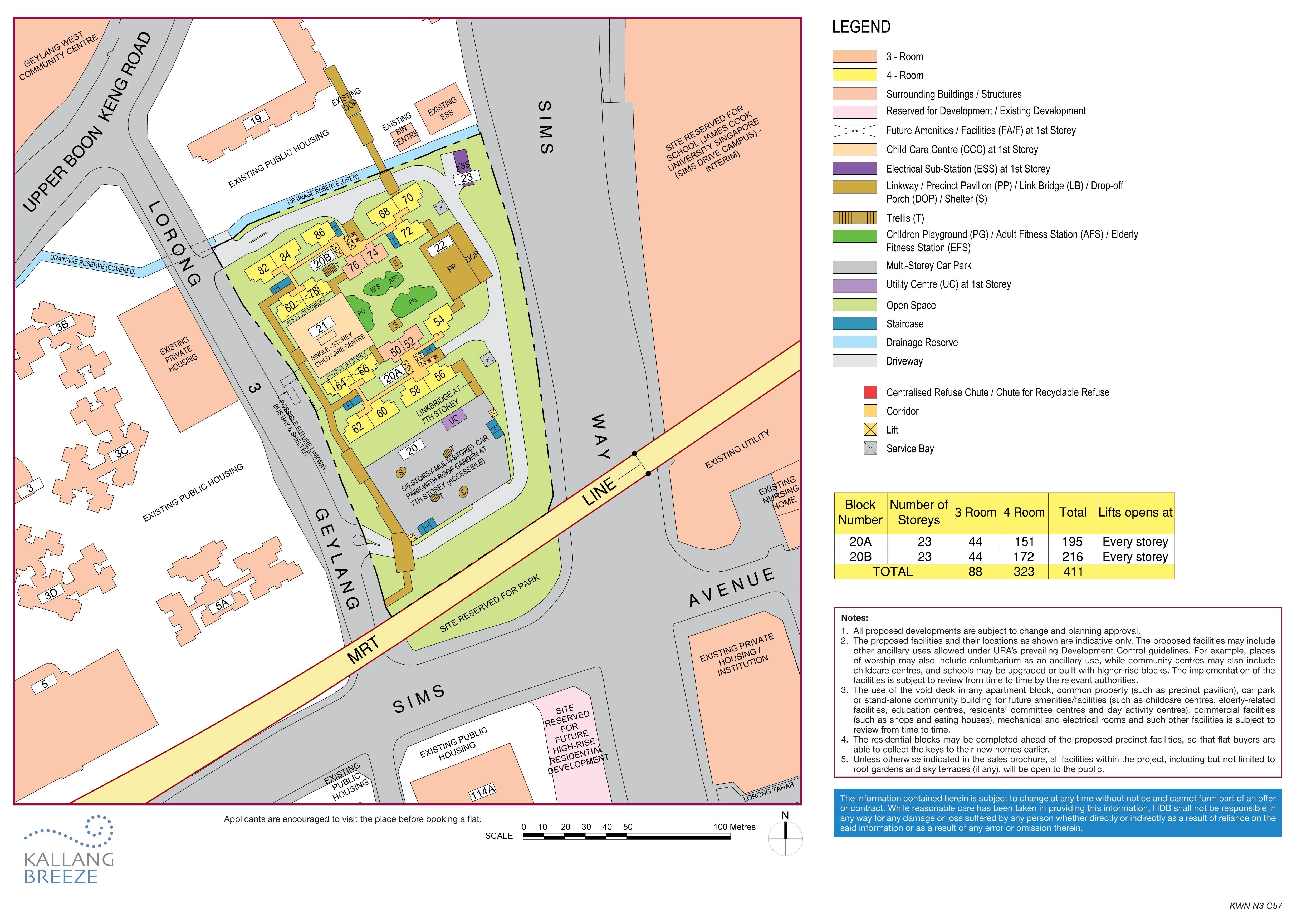Kallang Breeze Site Plan