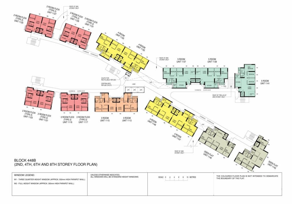 Punggol Point Cove Floor Plan for Storey 2-4-6-8