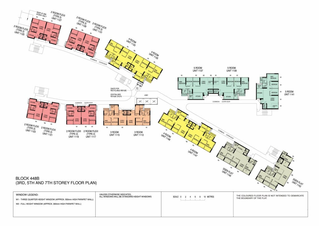 Punggol Point Cove Floor Plan for Storey 3-5-7
