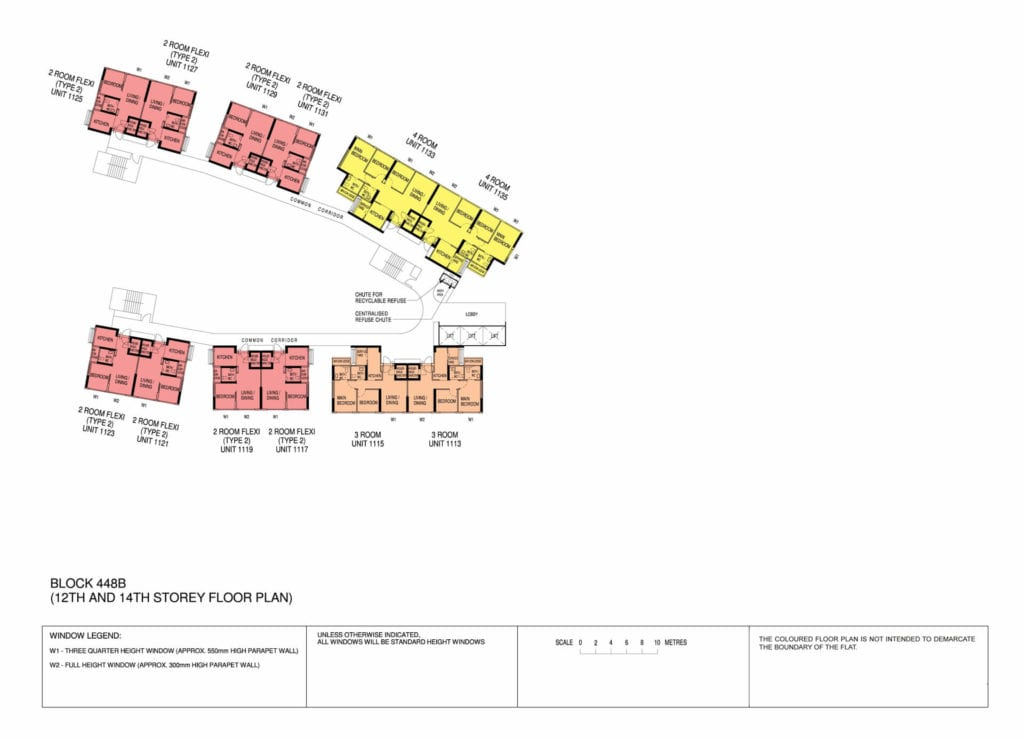 Punggol Point Cove Floor Plan for Storey 12-14