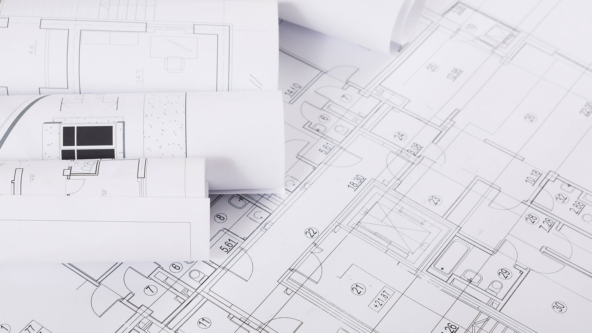 Plan Of Building Architectural Project Background