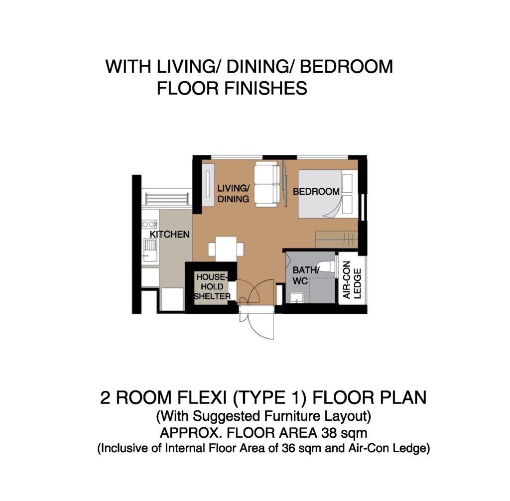 Kempas Residences 2-Room Flexi Type 01
