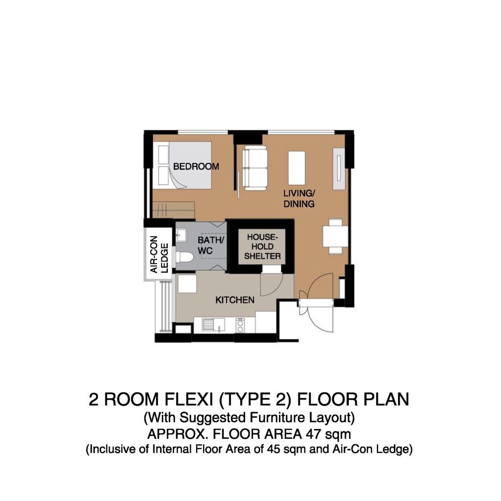 Kempas Residences 2-Room Flexi Type 02