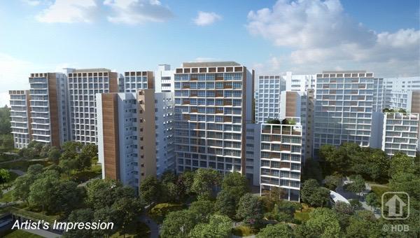 Garden Vale @ Tengah Building Facade