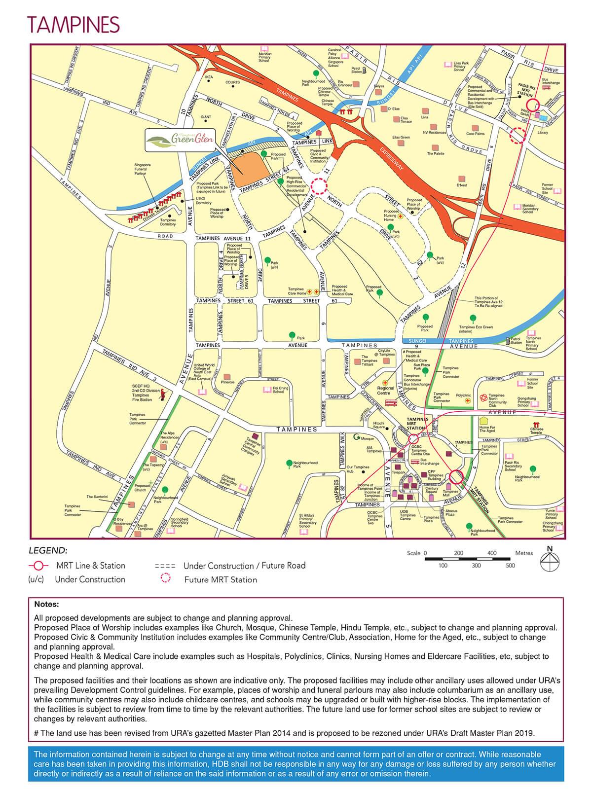 tampines greenglen location map