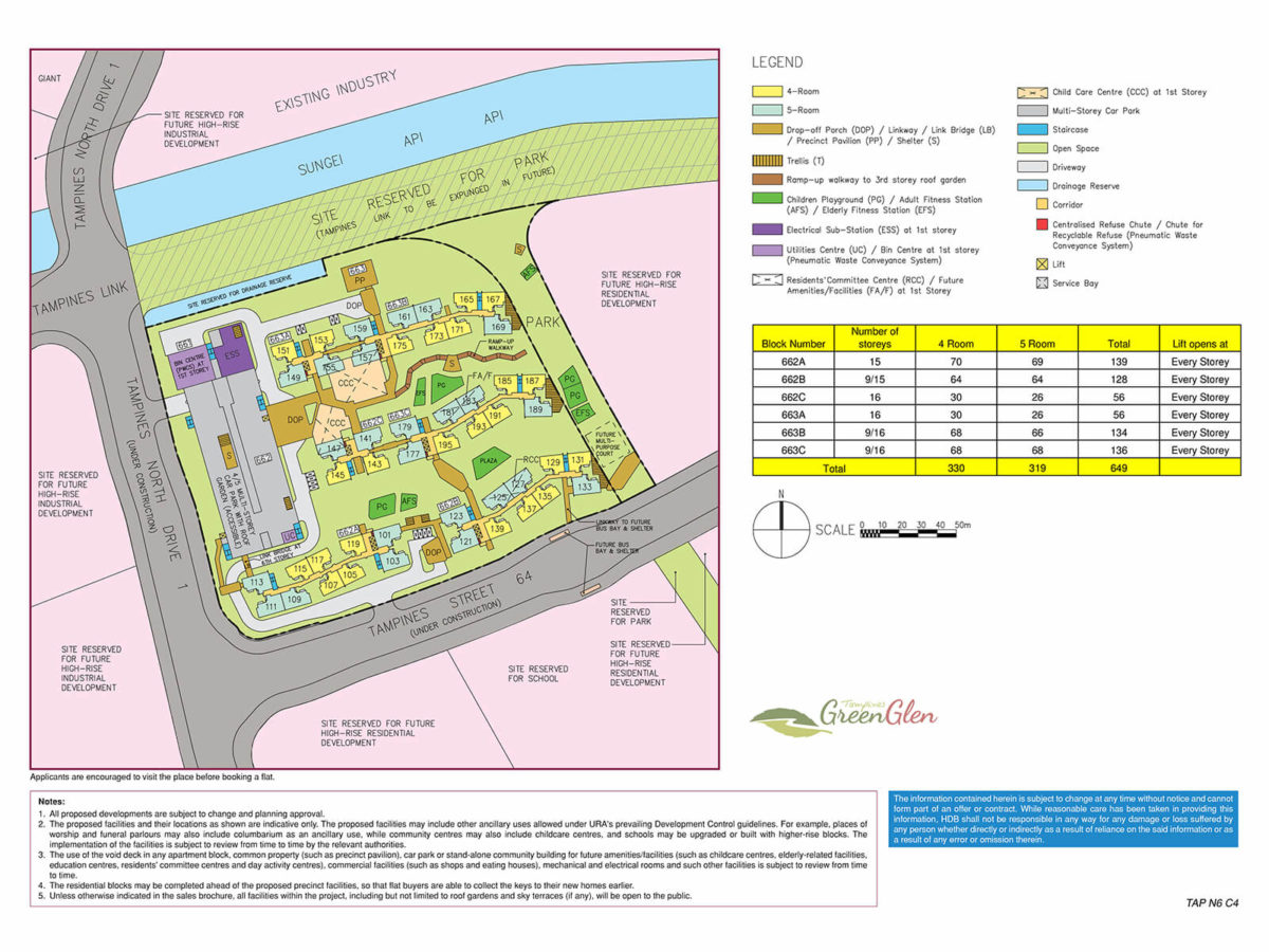 Tampines GreenGlen Site Plan