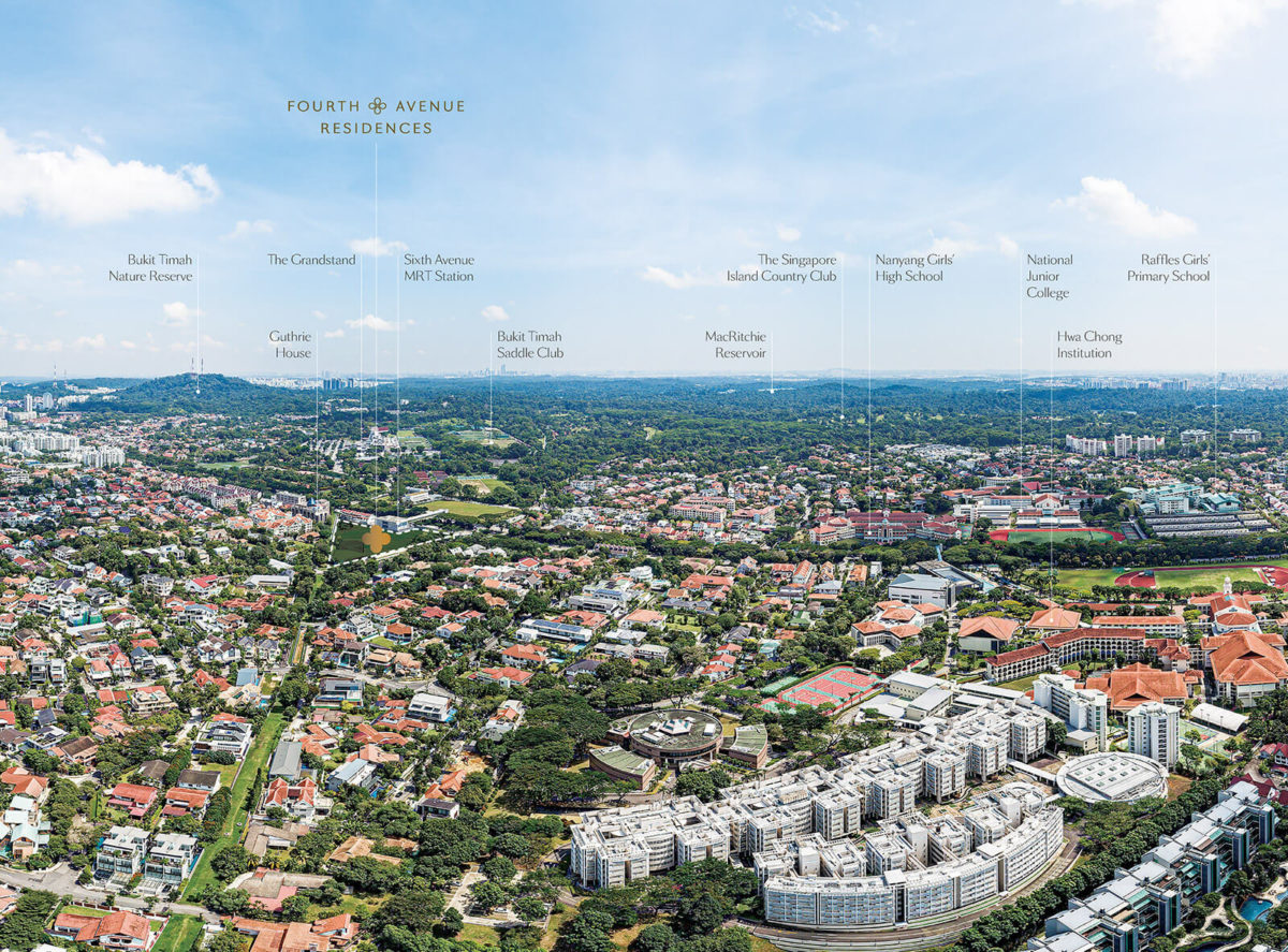 Fourth Avenue Residences Location Map Aerial View