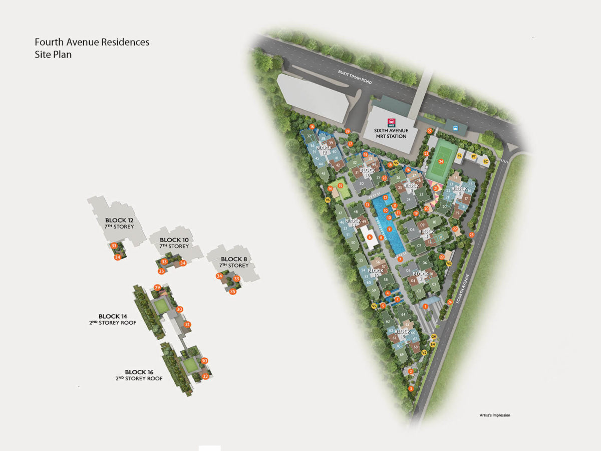 Fourth Avenue Residences Site Plan