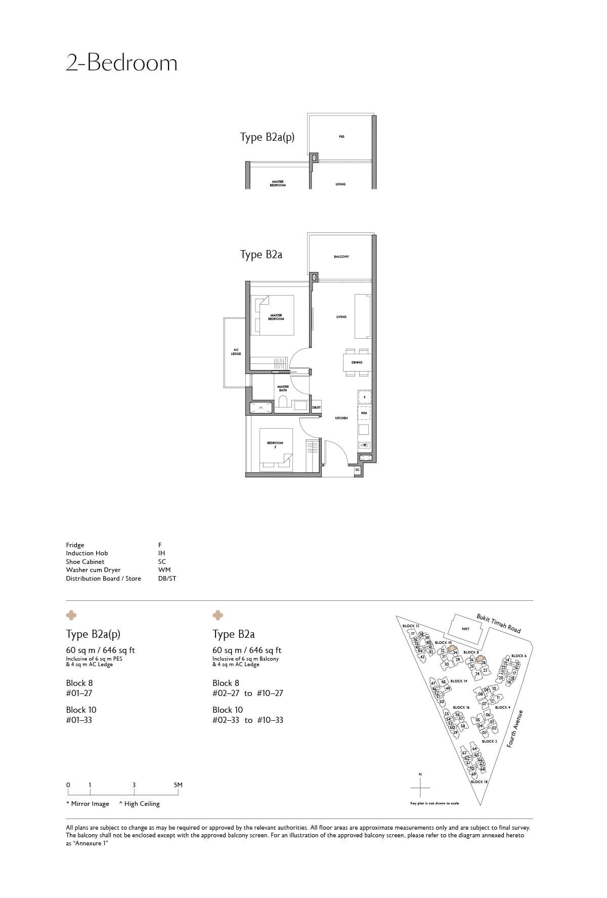 Fourth Avenue Residences Floor Plan 2 Bedroom Type B2a