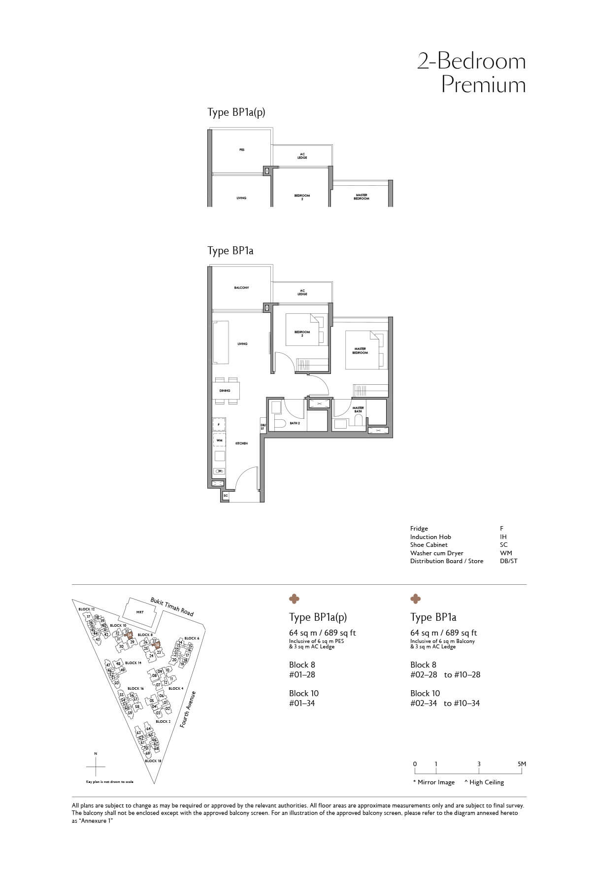 Fourth Avenue Residences Floor Plan 2 Bedroom Premium Type BP1a