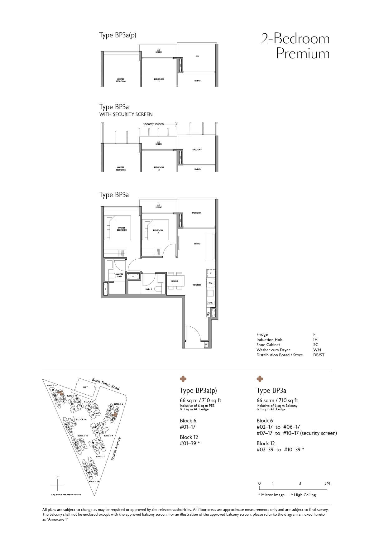 Fourth Avenue Residences Floor Plan 2 Bedroom Premium Type BP3a
