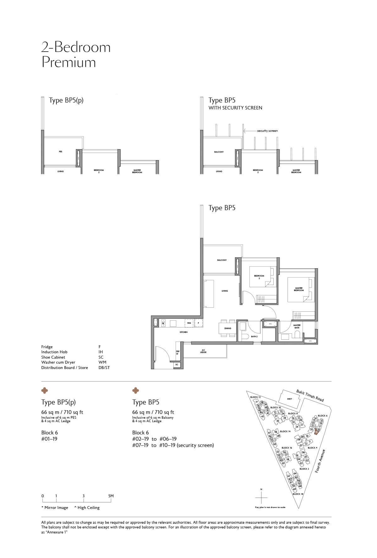 Fourth Avenue Residences Floor Plan 2 Bedroom Premium Type BP5
