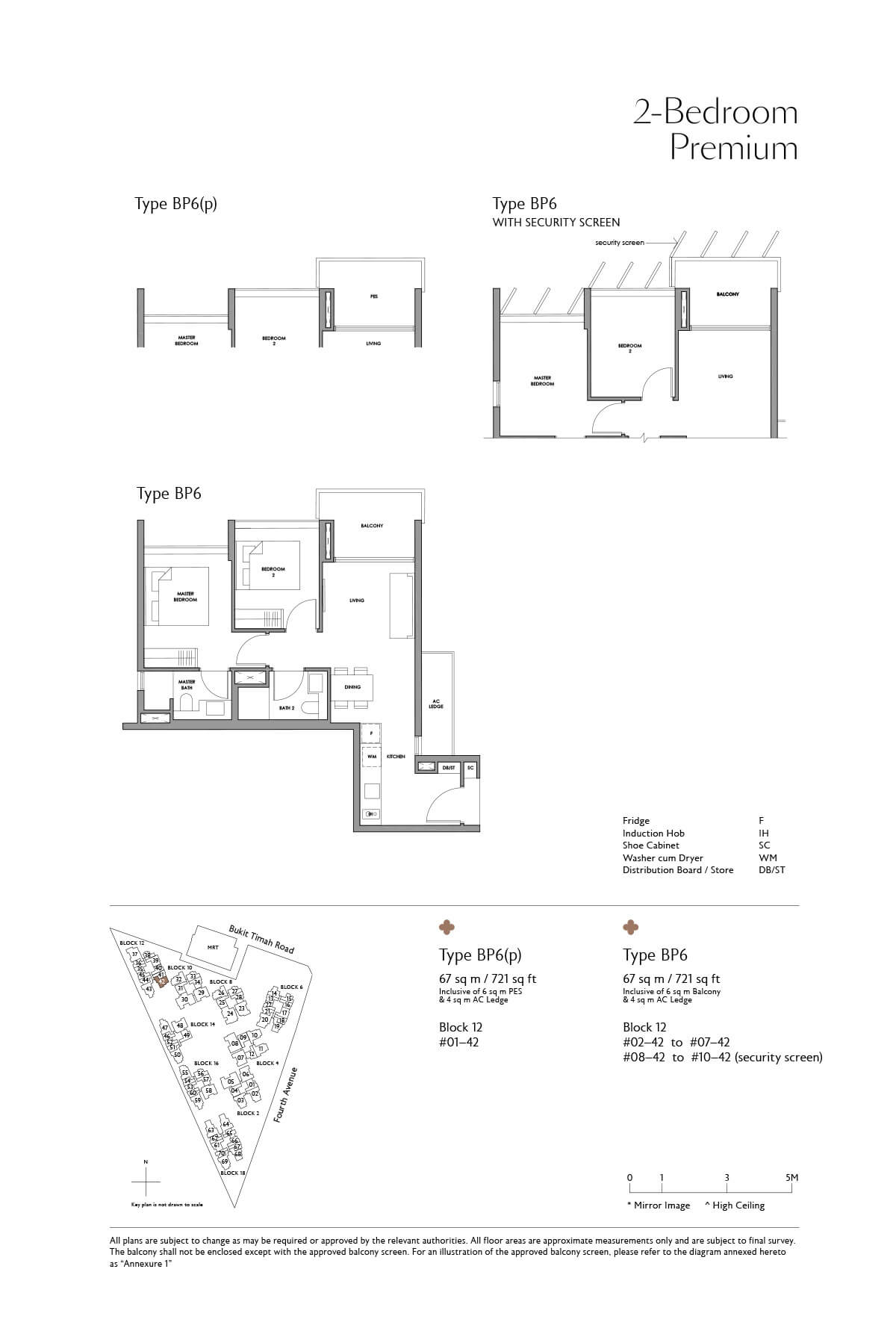 Fourth Avenue Residences Floor Plan 2 Bedroom Premium Type BP6