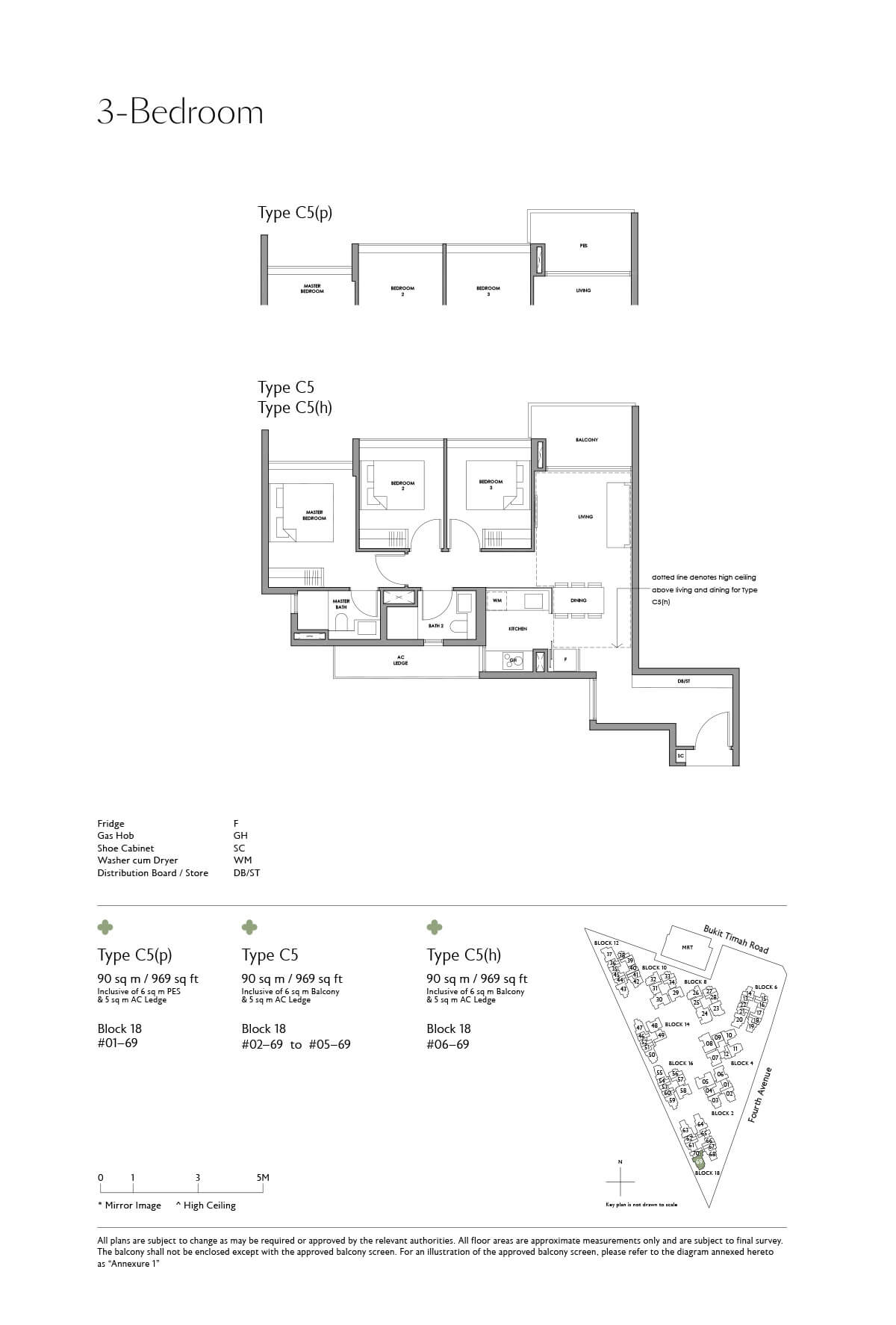 Fourth Avenue Residences Floor Plan 3 Bedroom Type C5
