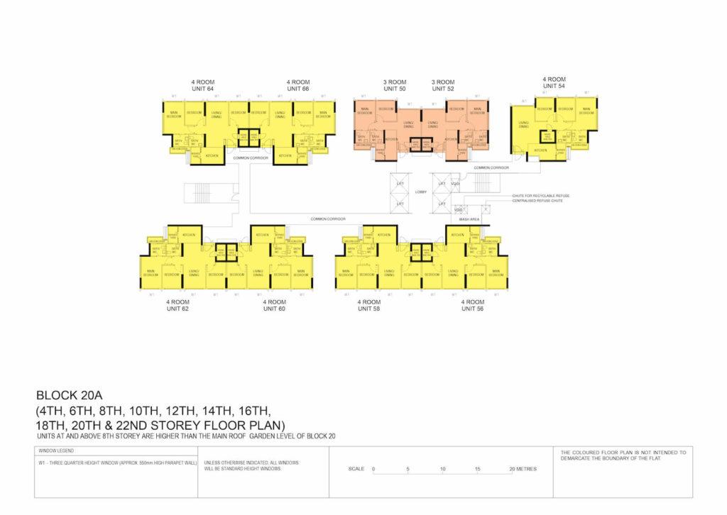 Kallang Breeze Block Plan Block 20A 4th, 6th, 8th, 10th, 12th, 14th, 16th, 18th, 20th & 22nd Storey