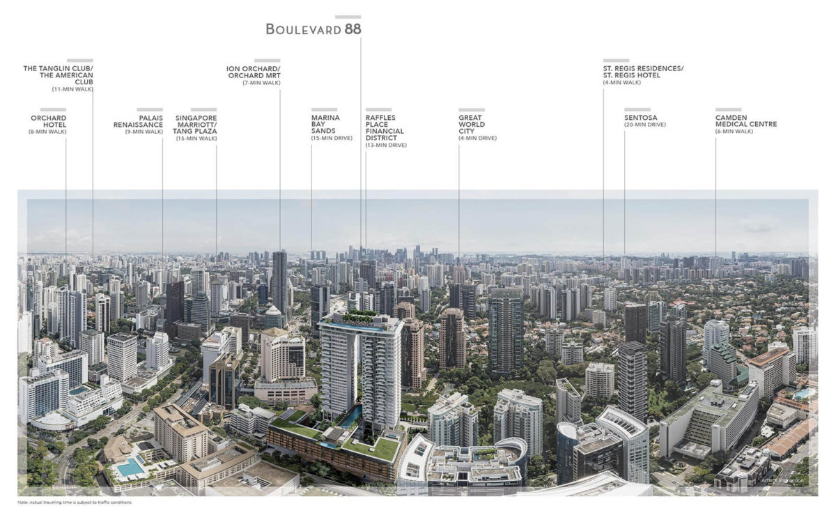 Boulevard 88 Location Map Skyline