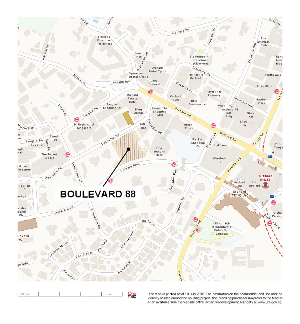 Boulevard 88 Location Map