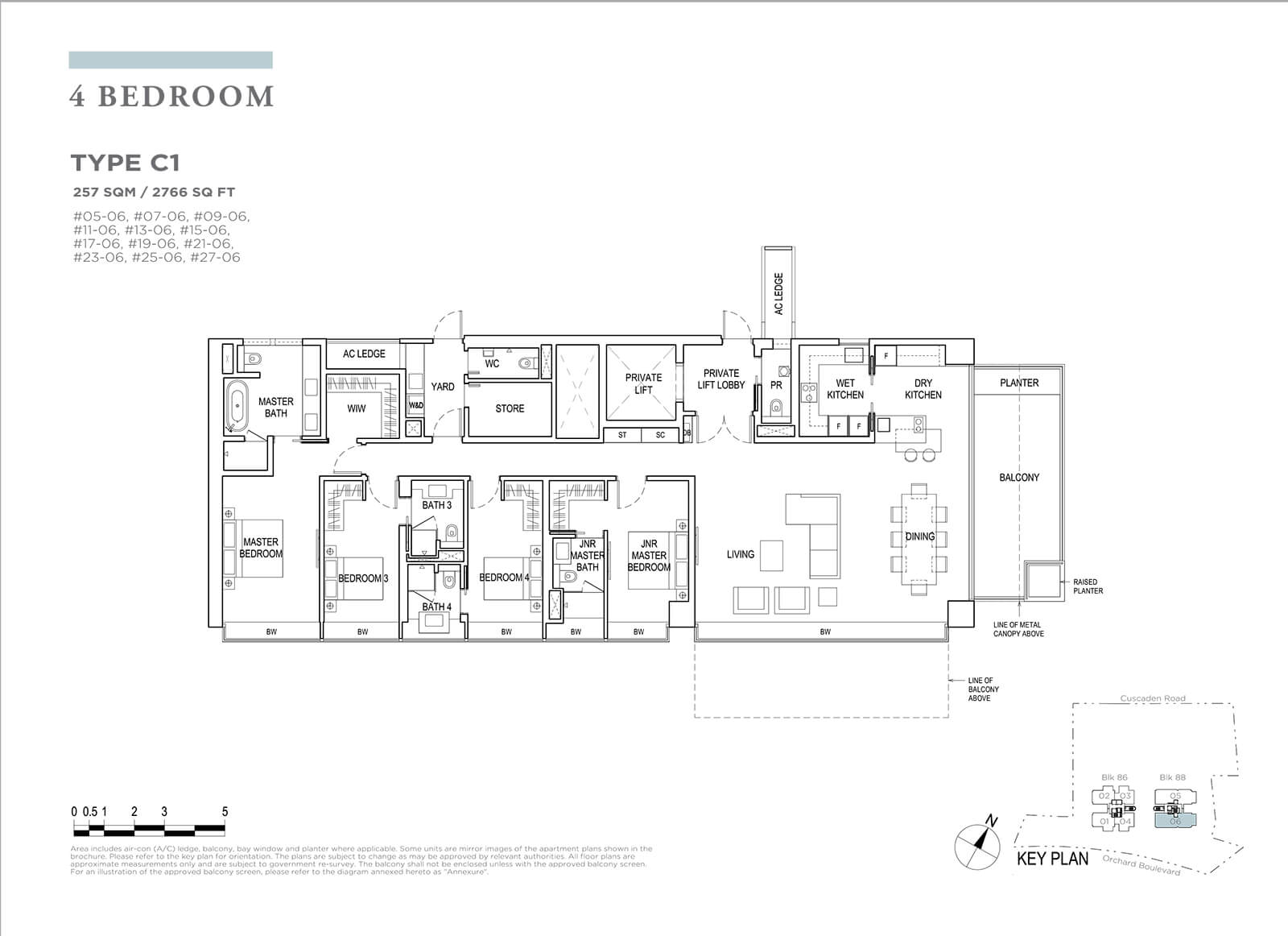 Boulevard 88 Floor Plan 4 Bedroom Type C1