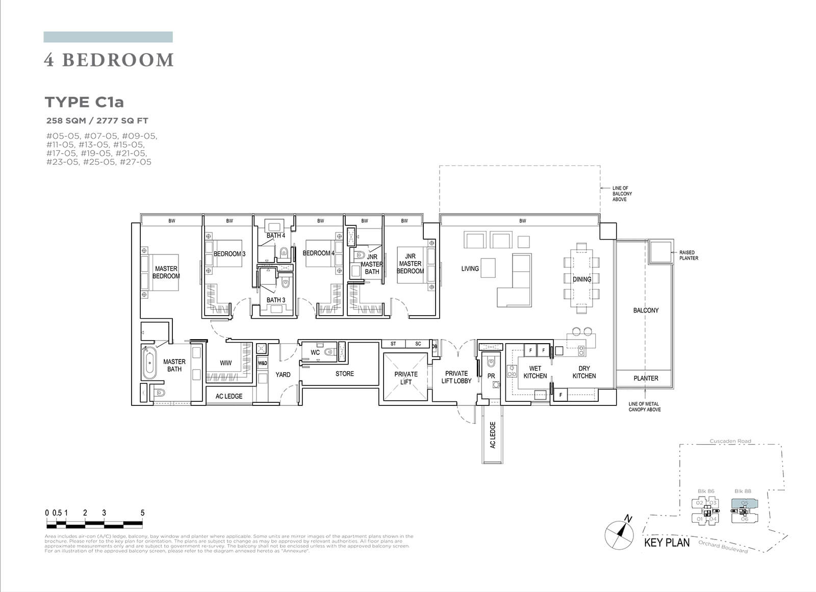 Boulevard 88 Floor Plan 4 Bedroom Type C1a