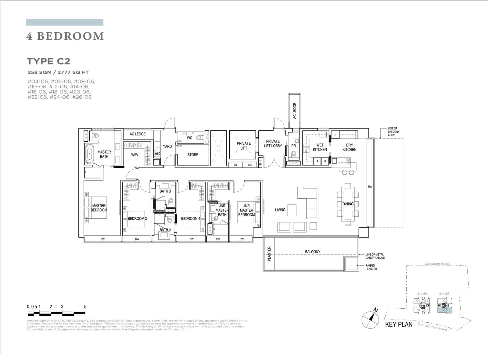 Boulevard 88 Floor Plan 4 Bedroom Type C2