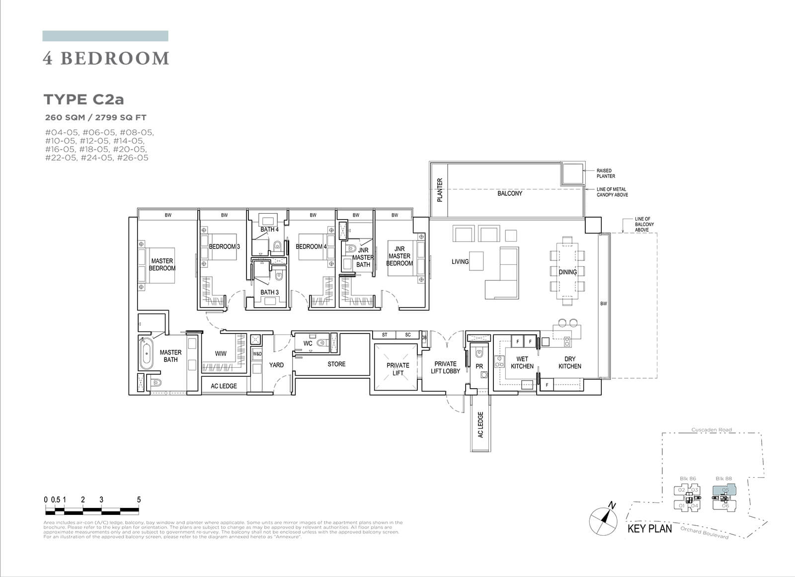 Boulevard 88 Floor Plan 4 Bedroom Type C2a