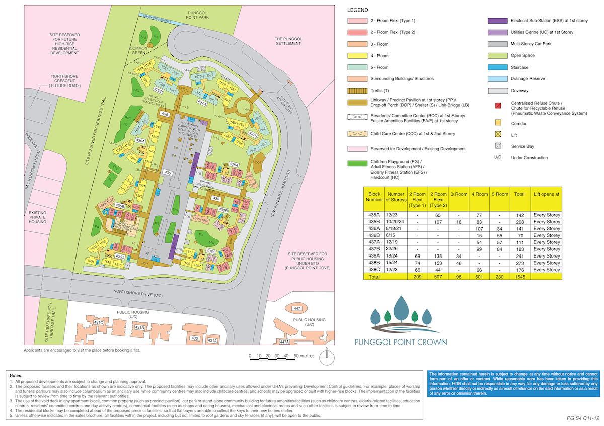 Punggol Point Crown Site Plan