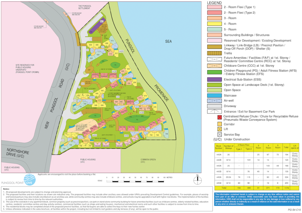 Punggol Point Cove Site Plan