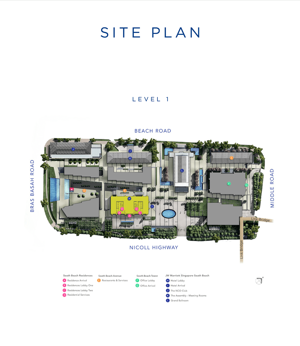 South Beach Residences Site Plan Level 01